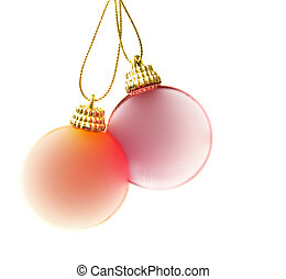 Christmas balls   - Christmas baubles, isolated
