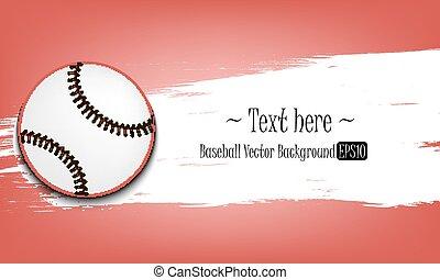 Hand drawn grunge banners with baseball ball