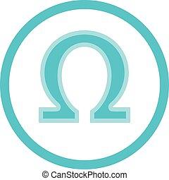 Omega Acid Blue Round Icon - Omega 3, 6, 9 acid medical...