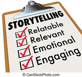 Storytelling Checklist Clipboard How to Tell Stories 3d...