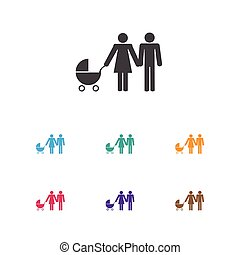 Vector Illustration Of Child Symbol On Lineage Icon. Premium...