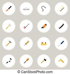Set Of 16 Editable Instrument Icons. Includes Symbols Such...
