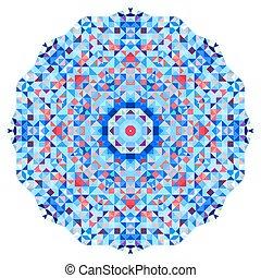 Abstract colorful circle backdrop. Geometric vector mandala....