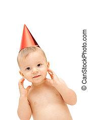 baby in party cap