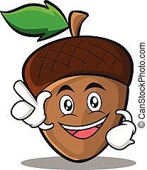 Have an idea acorn cartoon character style vector...