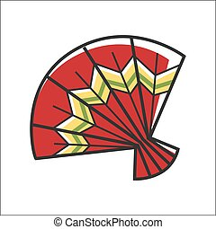 Traditional colorful fan