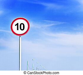 10 - speed limit sign