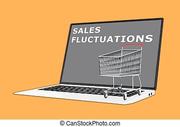 Sales Fluctuations concept - 3D illustration of 'SALES...