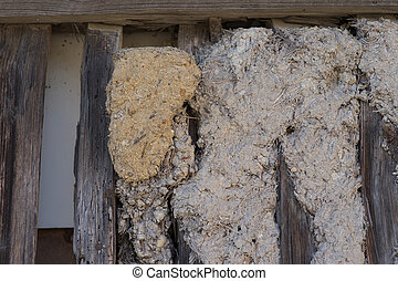 Truss - wall of mud and timbered