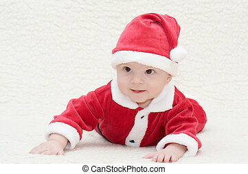 baby in santa's suit