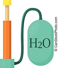 Oxygen pump icon, cartoon style - Oxygen pump icon. Cartoon...