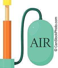 Air pump icon, cartoon style - Air pump icon. Cartoon...