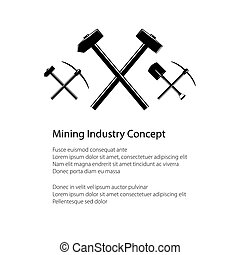 Mining and Construction Concept - Mining Industry and...