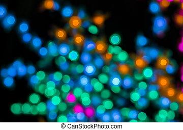 De focused or Blurred image of lights