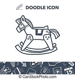 rocking horse doodle