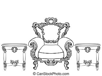 Rich Imperial Baroque Rococo furniture and frames set....