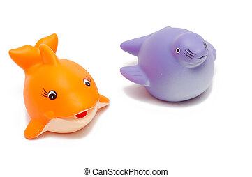 fish and seal toys
