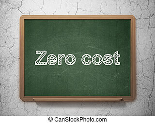 Business concept: Zero cost on chalkboard background