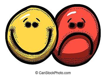 Cartoon image of Emotion Icon. Emotion set
