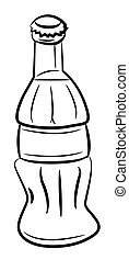 Cartoon image of Bottle Icon. Coke drink symbol