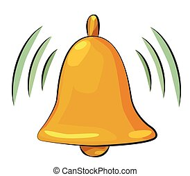 Cartoon image of Notification Icon. Bell symbol