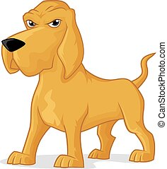 Bloodhound dog vector cartoon illustration