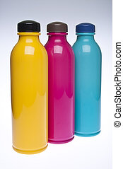 Trio of Plastic Drink Bottles - Trio of Reusable Plastic...