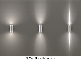 Set of wall lamps