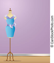 dressmaking - an illustration of a dressmakers manikin with...