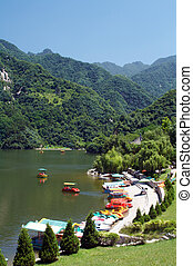 Lake in the Cuihua mountain, Xi'an, China