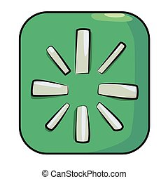 Cartoon image of Restart Icon. An artistic freehand picture.