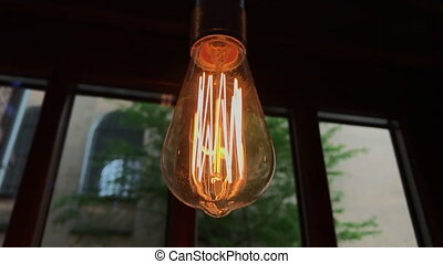 Electric light bulbs flickering - Bright halogen electric...
