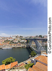 View of Ribeira historical quarter, on the margin Douro...
