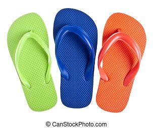 Summer Flip Flop Sandal Background