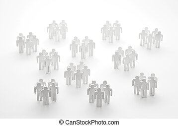 Groups of people figures