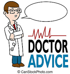 Serious Doctor Giving Advice - An image of a doctor with his...