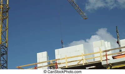 Industrial Tower Crane on Construction Site Tracking -...