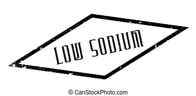 Low Sodium rubber stamp. Grunge design with dust scratches....