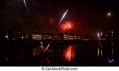 The Fireworks of the Luminara Festival - View of the...