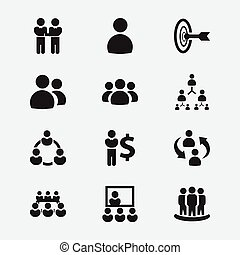 Set Of 12 Editable Cooperation Icons. Includes Symbols Such As Friendship, Unity, Male And More. Can Be Used For Web, Mobile, UI And Infographic Design.