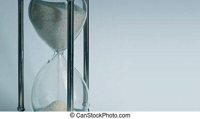 Egg Timer Running Down Closeup Timelapse - Closeup of glass...