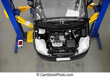 Car maintenance. - Auto repair shop