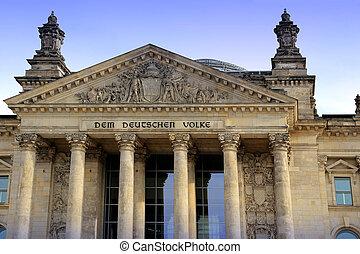 Reichstag building (Deutscher Bundestag), in Berlin, Germany...