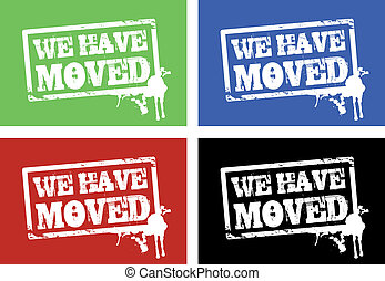 we have moved cards - four colored we have moved cards