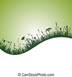 herbal silhouette background
