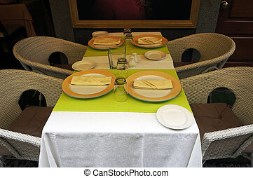 Small restaurant in Funchal, Madeira - Small restaurant on a...