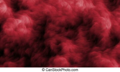 fog red abstract
