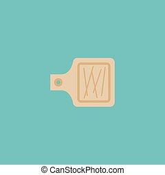Flat Icon Cutting Board Element. Vector Illustration Of Flat...