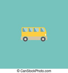 Flat Icon Bus Element. Vector Illustration Of Flat Icon...