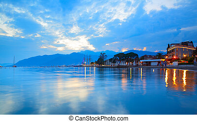 The Bay of Kotor near Tivat town and Porto Montenegro